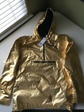 ADIDAS GOLD FONTANKA JACKET SIZE MEDIUM