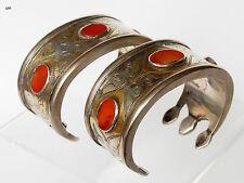 1 Paire Antik Turkmen Tekke Bracelet Armspange antique Cuff autres Bracelets-Bilezik 489