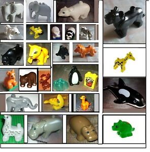 Lego Duplo Zoo Tiere Affe Elefant Triceratops Orca Pinguin Tiger Seelöwe Dino