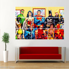 Marvel Justice League Batman Iron Man Superman  Poster Giant Huge Wall Art Large