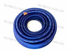 4 Gauge AWG BLUE Power Ground Wire Sky High Car Audio Sold By The Foot GA ft