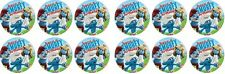 Smurfs ~ Have a Smurfy Birthday ~ Edible Image Rice Paper cupcake Toppers x 12