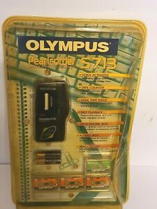 Olympus Pearlcorder S713 MicroCassette Voice Recorder Handheld Dictaphone NEW
