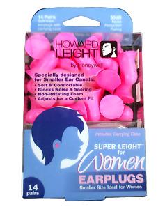Howard Super Leight Foam Ear Plugs NRR 30 w/Unique Bell Shape Pink 14/pk R-01757