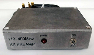 Scanner Preamp 110-400MHz, 17dB gain, 240V mains powered, with 0.6m BNC cable.