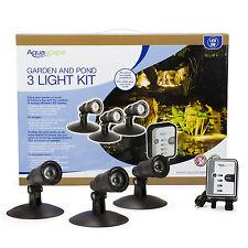 AQUASCAPE #84030 LED GARDEN and POND SPOTLIGHT KIT (3) 1 WATT LIGHTS