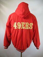 E5416 VTG 90s STARTER San Francisco 49ers NFL Football Hooded Jacket Size M