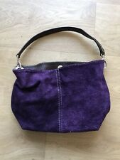 Purple Faux Suede Handbag Alicante Bag Leatherette Leather Strap