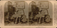 Stereoview, Man Spanking Boy, Boy Crying, U.S.A., 1901