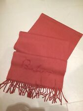 Burberry Blush Pink 100% Cashmere Fringed Scarf, Excellent Condition