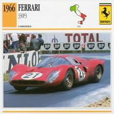1966 FERRARI 330P3 Racing Classic Car Photo/Info Maxi Card