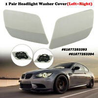 1 Pair Left Right Side Headlight Washer Cover Cap For BMW E92 E93 LCI 2010-2013