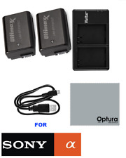 2 NP-FW50 Li-Ion Battery For Sony A6500 A6300 A6000 A5100 A5000 + DOUBLE CHARGER