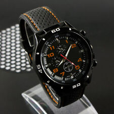 Men's Racer Military Pilot Aviator Army Silicone Sports Watch Wristwatch Gift
