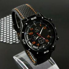 Men's Racer Military Pilot Aviator Army Silicone Sports Watch Wristwatch Gifts