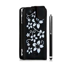 Housse coque étui pour Sony Ericsson Xperia x12 Arc / Arc S motif fleurs couleur