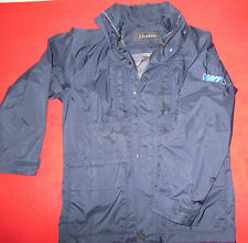 Schöffel Outdoorjacke mit vielen Taschen innen Handytasche Kapuze im Kragen blau