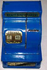 Vintage Antique METAL Uncle Sam's 3 Coin Register Piggy Bank Made in Japan