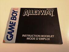 Notice - Instruction Booklet Alleyway Game Boy FAH-2