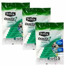 Schick Exacta 2 Disposable Razor 10pcs Twin Blade Razors for Sensitive Skin