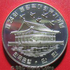1983 KOREA SOUTH 10000 WON SILVER BU PROOF-LIKE PAVILION  KYONGBOK PALACE BIRDS
