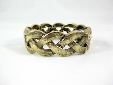 Beautiful New Woven Metal Chain Stretch Bracelet  NWT  $16 Tags #B1402