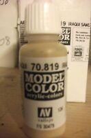 MODEL HOBBY PAINT 17ML BOTTLE   VAL819  AV Vallejo Model Color - Iraqi Sand