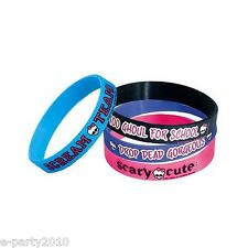 MONSTER HIGH RUBBER BRACELETS (4) ~ Birthday Party Supplies Favors Accessories
