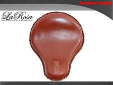 "La Rosa Harley Cross Bones Mount Solo Seat - 16"" Shedron Leather (Fit 2008-2009)"