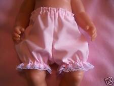 """BJB dolls clothes, Pink Frilly knickers pants fit 18"""" baby born annabel doll"""