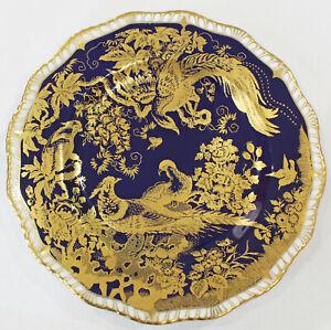Royal Crown Derby Paradise Cobalt Blue & Gilt Porcelain Plate 1977
