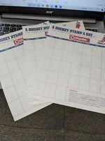 1970-71 Colgate Hockey Sticker Sheets (Custom)