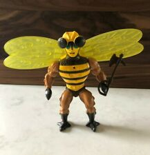 MOTU Buzz-Off Figure He-Man line Complete w/Helmet axe movable wings Mattel 1984