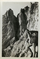 PHOTO ANCIENNE - VINTAGE SNAPSHOT -SPORT ESCALADE MONTAGNE AIGUILLE ROUGE SAVOIE