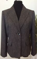 Suit Studio Women's Career Dark Gray 100% Polyester Blazer Jacket Suit Sz12P EUC