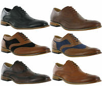 Goor Formal Brogue Oxford Lace Evening Wedding Smart Casual Mens Shoes