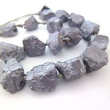 6pcs Large Natural Raw Terahertz Stone Bead Nuggets Healing Diseases Affect Body