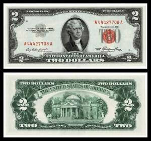1953 $2 RED SEAL UNITED STATES NOTE ~~ CRISP ~ UNCIRCULATED