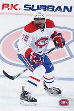 PK SUBBAN Montreal Canadiens DEFENDER NHL Hockey Superstar Wall POSTER