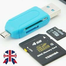 Micro USB OTG to USB 2.0 Adapter SD Card Reader For Android Phone Tablet PC GBC
