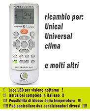 Telecomando condizionatore Unical - Universal Clima aria condizionata inverter