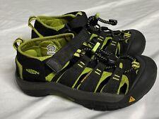 New listing Keen Big Kids Size 1 Waterproof Sandals Newport H2 1009965 Black Green Washable