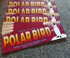 Wholesale Lot-100 Old Vintage - Polar Bird - Grape Labels - Reedley Ca. Penguin