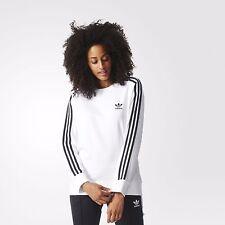 Ladies Adidas Originals 3 Stripes Long Sleeve Sweatshirt. BNWT. White. UK 14