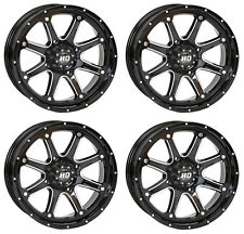 4 ATV/UTV Wheels Set 14in STI HD4 Gloss Black 4/156 4+3 POL