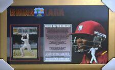 Cricket Brian Lara World Record Breaker Signed Piece - Framed