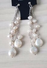 925 Sterling Silver Freshwater Pearl Earrings Drop/ Dangle