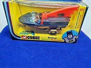 Vintage Corgi No.107 Batman Bat Boat (2nd Issue) black Near Mint 1971