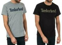 Timberland Logo Seasonal T Shirt Mens Black Grey Short Sleeved Slim Fit Tee