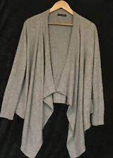 Lady's soft grey 100% Cashmere waterfall cardigan by JAMES LAKELAND Size M